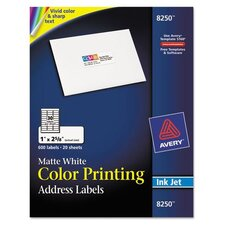 Matte White Mailing Labels