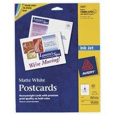 """60 Count 5-1/2"""" x 4-1/4"""" Matte PC60 Postcard in White"""