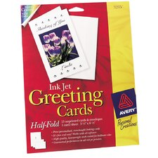 """20 Count 5-1/2"""" x 8-1/2"""" Ink Jet Blank Greeting Card"""