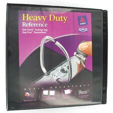 "2"" EZ View Heavy Duty Reference Binder in Black (Set of 6)"