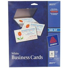 100 Count Ink Jet Printer Business Card in White (Set of 5)