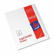 Allstate-Style Legal Index Dividers in White (Set of 3)