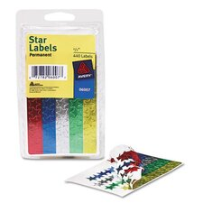 Self-Adhesive Assorted Color Foil Stars, 440/Pack (Set of 4)
