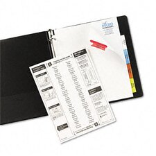 Worksaver Big Tab Extrawide Paper Dividers in White (Set of 3)