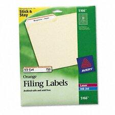 Permanent Adhesive Laser/Inkjet File Folder Labels, 750/Pack