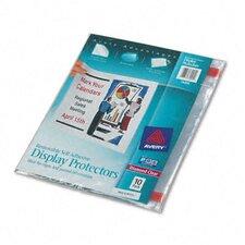 Top-Load Display Sheet Protectors, 10/Pack