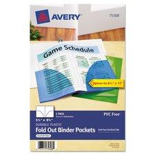 Fold-Out Binder Pocket (3 Pack) (Set of 2)