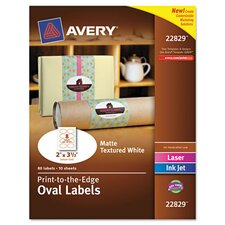 Oval Easy Peel Label (80 Pack)