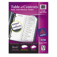 Ready Index Classic Tab Title (12 Pack)