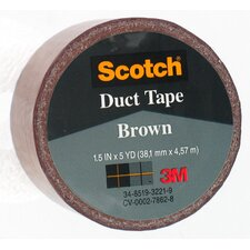 "1.5"" X 5 Yard Brown Scotch® Duct Tape 1005-BRN-1P (Set of 6)"