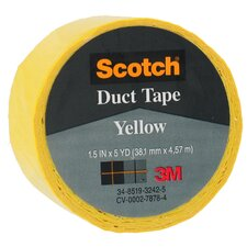 "1.5"" X 5 Yards Yellow Scotch® Duct Tape 1005-YLW-1P (Set of 6)"