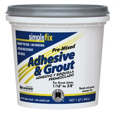 Premixed Adhesive and Grout 1 Quart (Set of 6)