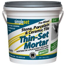 Premixed Tile and Stone Thin-Set Mortar 1 Gallon (Set of 2)