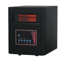 5,120 BTU Infrared Cabinet Quartz Heater with Easy Roll Caster and Remote Control