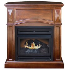 Belmont Compact Freestanding Dual Fuel Gas Fireplace