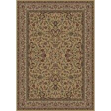 Persian Classics Brown Oriental Kashan Area Rug