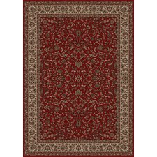 Persian Classics Oriental Kashan Red Area Rug