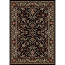 Persian Classics Oriental Mahal Black Area Rug