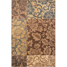 Reaction Brown & Blue Area Rug