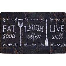 Designer Chef Eat Good, Laugh Often, Live Well Mat
