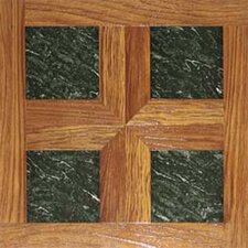 "Dynamix Vinyl Tile 16"" x 16"" Luxury Vinyl Tiles in Paramount Woodtone/Green Marble"