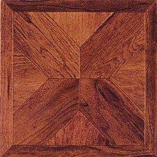 "12"" x 12"" Luxury Vinyl Tile in Cherry Wood Cross"