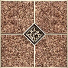 """12"""" x 12"""" 30 Piece Luxury Vinyl Tile in Marble Traditional"""