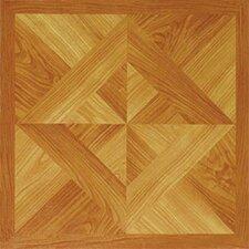 """Dynamix Vinyl Tile 12"""" x 12"""" Vinyl Tile in Light Wood Diamond"""