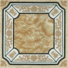 "12"" x 12"" Luxury Vinyl Tile in Creme Fancy Adhesive"