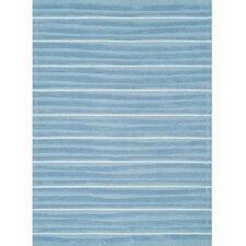 Kidz Image Aquamarine Blue Stripe Area Rug