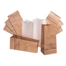 10 Kraft Paper Bag in Brown with 500 Per Bundle (Set of 2)