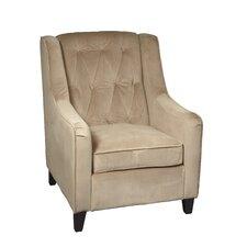 Curves Tufted Arm Chair