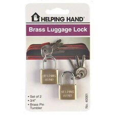 Solid Brass Luggage Lock (Set of 3)