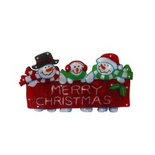 """10"""" Snowman Family Indoor Hanging Christmas Decoration"""