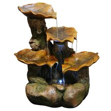 Polyresin Tiered Leaf Fountain