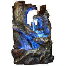 Fiberglass Tree Trunks Waterfall Fountain with LED Light
