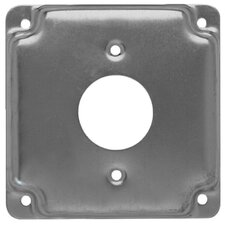 """4"""" Square Exposed Work Cover with 1 Receptacle"""