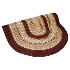 Pioneer Valley II Buckskin with Burgundy Solids Round Outdoor Rug