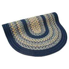 Pioneer Valley II Williamsburg with Dark Blue Solids Multi Round Outdoor Rug