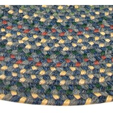 Pioneer Valley II Meadowland Blue Multi Elongated Octagon Outdoor Rug
