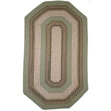 Beantown Boston Garden Elongated Octagon Green/Brown Area Rug