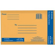 "6"" x 9"" Kraft Manila USPS Padded Mailer (Set of 5)"