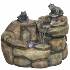 Rana Outdoor Resin Rock Fountain