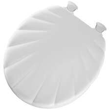 Shell Wood Round Toilet Seat