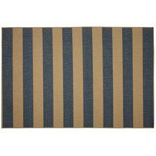 Beach Service Blue Stripe Indoor/Outdoor Area Rug