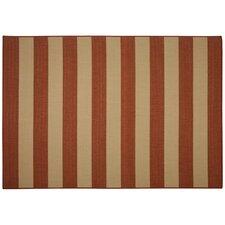 Beach Service Red Stripe Indoor/Outdoor Area Rug
