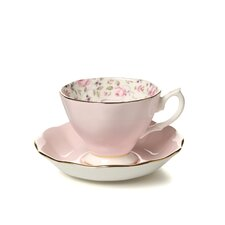 Rose Confetti Formal Vintage Teacup and Saucer