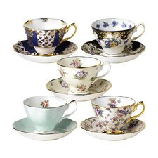100 Years Teacup and Saucer (Set of 5)