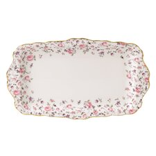 Rose Confetti Vintage Formal Rectangular Serving Tray
