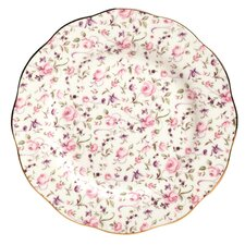 Rose Confetti Formal Vintage Salad Plate
